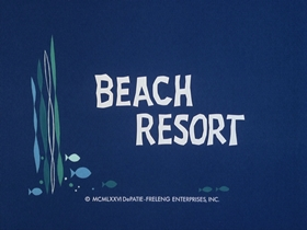 Screenshots from the 1976 DePatie Freleng cartoon Beach Resort