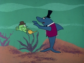 Screenshots from the 1976 DePatie Freleng cartoon Aladdin