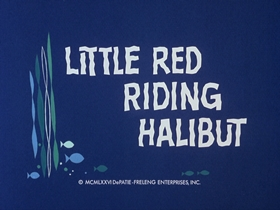 Screenshots from the 1976 DePatie Freleng cartoon Little Red Riding Halibut