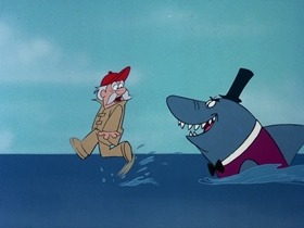 Screenshots from the 1976 DePatie Freleng cartoon Merry Sharkman Merry Sharkman