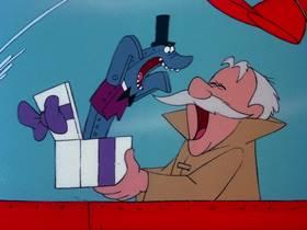 Screenshots from the 1976 DePatie Freleng cartoon Sea Chase