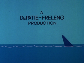 Screenshots from the 1976 DePatie Freleng cartoon The $6.95 Bionic Shark