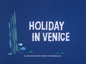 Screenshots from the 1976 DePatie Freleng cartoon Holiday In Venice