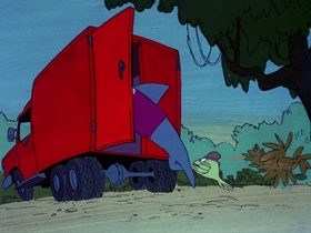 Screenshots from the 1976 DePatie Freleng cartoon The Aquanuts