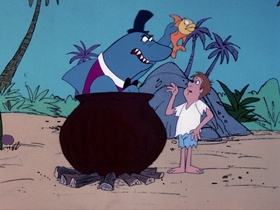 Screenshots from the 1976 DePatie Freleng cartoon No Man