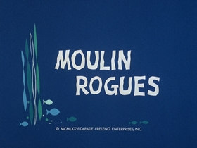 Screenshots from the 1976 DePatie Freleng cartoon Moulin Rogues