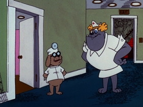 Screenshots from the 1976 DePatie Freleng cartoon Medicur
