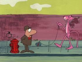 Screenshots from the 1976 DePatie Freleng cartoon Rocky Pink