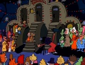 Screenshots from the 1977 DePatie Freleng cartoon Halloween is Grinch Night