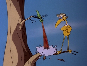 Screenshots from the 1978 DePatie Freleng cartoon Crane Brained