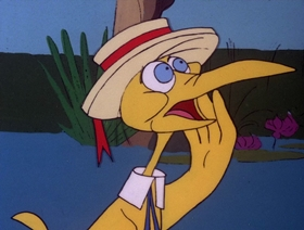 Screenshots from the 1978 DePatie Freleng cartoon Life With Feather