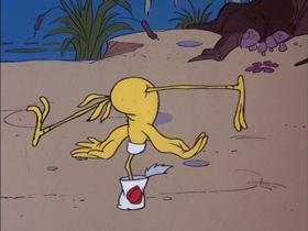 Screenshots from the 1978 DePatie Freleng cartoon King Of The Swamp