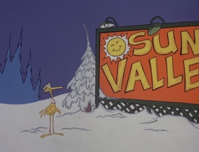 Screenshots from the 1978 DePatie Freleng cartoon Winter Blunderland