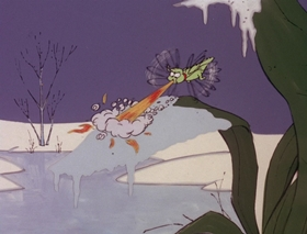 Screenshots from the 1978 DePatie Freleng cartoon Winter Blunderland