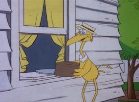 Screenshots from the 1978 DePatie Freleng cartoon Storky & Hatch