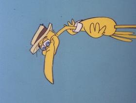 Screenshots from the 1978 DePatie Freleng cartoon Fly By Knight