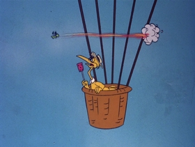 Screenshots from the 1978 DePatie Freleng cartoon Jet Feathers