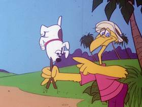 Screenshots from the 1978 DePatie Freleng cartoon Beach Bummer