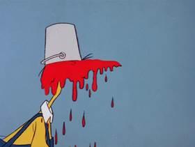Screenshots from the 1978 DePatie Freleng cartoon Nest Quest