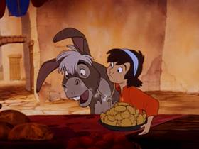 Screenshots from the 1978 Disney cartoon The Small One