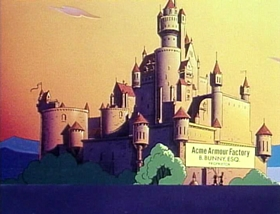 Screenshots from the 1978 Warner Bros. cartoon A Connecticut Rabbit in King Arthur
