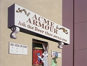 Screenshots from the 1978 Warner Bros. cartoon A Connecticut Rabbit in King Arthur