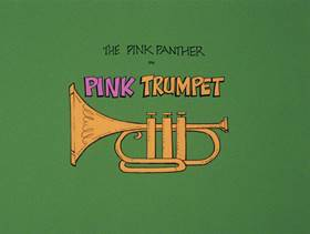 Screenshots from the 1978 DePatie Freleng cartoon Pink Trumpet