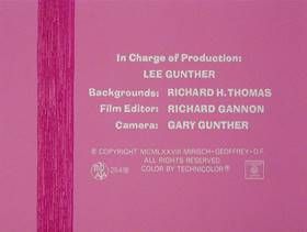 Screenshots from the 1978 DePatie Freleng cartoon Pink Trumpet