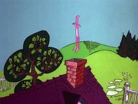 Screenshots from the 1978 DePatie Freleng cartoon Pink U.F.O.