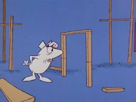 Screenshots from the 1978 DePatie Freleng cartoon Pinkologist