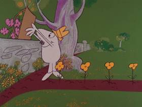 Screenshots from the 1978 DePatie Freleng cartoon Pinkologist