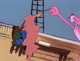 Screenshots from the 1978 DePatie Freleng cartoon Pink in the Drink