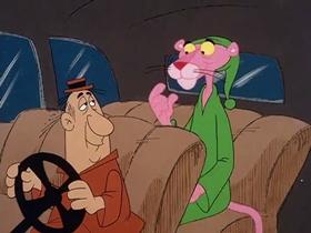 Screenshots from the 1978 DePatie Freleng cartoon Pink Z-Z-Z