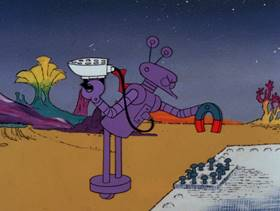Screenshots from the 1978 DePatie Freleng cartoon Star Pink