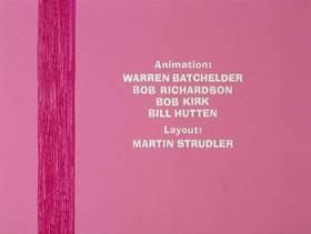 Screenshots from the 1978 DePatie Freleng cartoon Pet Pink Pebbles