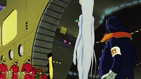 Screenshots from the 1979 Toei Animation cartoon Galaxy Express 999