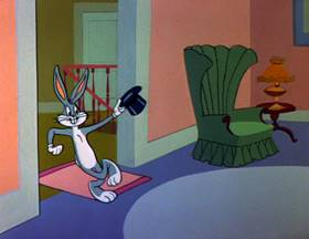 Screenshots from the 1979 Warner Bros. cartoon Bugs Bunny
