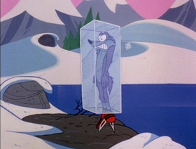 Screenshots from the 1979 Warner Bros. cartoon Freeze Frame