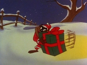 Screenshots from the 1979 Warner Brothers cartoon Fright Before Christmas
