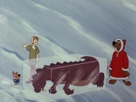 Screenshots from the 1980 Hanna-Barbera cartoon Alaskan King Coward