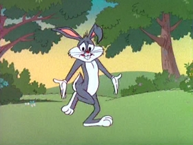 Screenshots from the 1980 Warner Bros. cartoon Portrait of the Artist as a Young Bunny