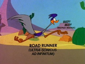 Screenshots from the 1980 Warner Brothers cartoon Soup or Sonic