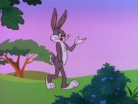 Screenshots from the 1980 Warner Brothers cartoon Spaced Out Bunny