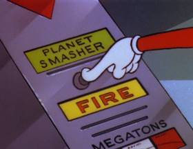 Screenshots from the 1980 Warner Bros. cartoon Duck Dodgers and the Return of the 24 1/2 Century