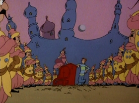Screenshots from the 1980 DePatie Freleng cartoon Pontoffel Pock, Where Are You?