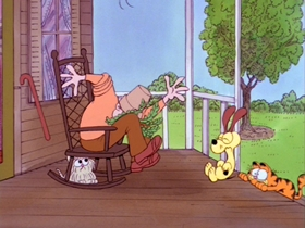 Screenshots from the 1982 Bill Melendez Productions cartoon Here Comes Garfield