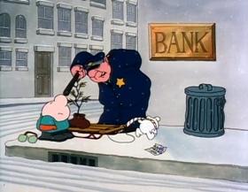Screenshots from the 1982 Richard Williams Productions cartoon Ziggy