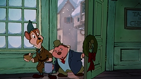 Screenshots from the 1983 Disney cartoon Mickey