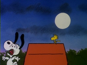 Screenshots from the 1985 Bill Melendez Productions cartoon Snoopy