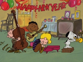 Screenshots from the 1986 Bill Melendez Productions cartoon Happy New Year, Charlie Brown